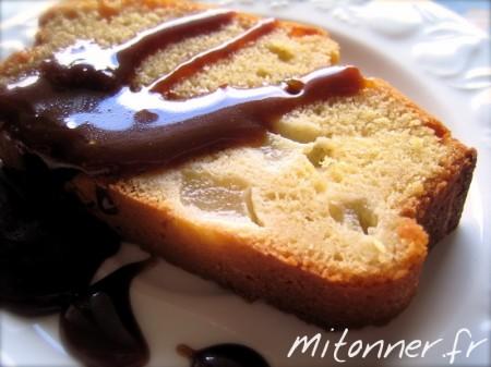 Cake aux poires et au caramel