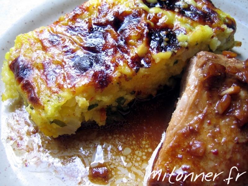 polenta aux fanes de carottes en gratin – mitonner.fr