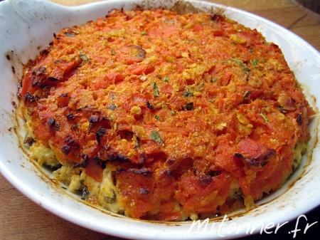Gratin de poisson épicé aux carottes