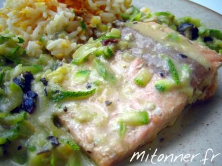 Pavé de saumon au gorgonzola